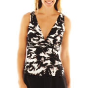 Trimshaper® Print Tankini Swim Top
