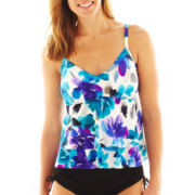 Trimshaper® Tiered Tankini Swim Top
