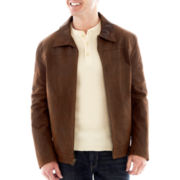 R&O Leather Open-Bottom Jacket