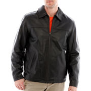 Excelled Rugged Leather Hipster Jacket
