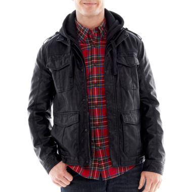 jcpenney.com | Rogue State™ Hooded Faux-Leather Jacket