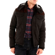 Rogue State™ Quilted Slub-Denim Jacket with Hood