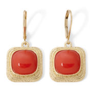 Monet® Gold-Tone Beaded Drop Earrings