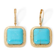 Monet® Aqua and Gold–Tone Drop Earrings