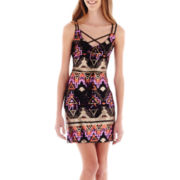 City Triangles® Sleeveless Aztec Sequin Dress