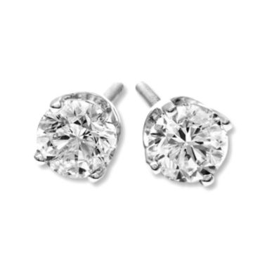jcpenney.com | 1/2 CT. T.W. Diamond 14K White Gold Round Stud Earrings