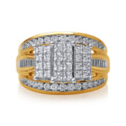 2 CT. T.W. Diamond 10K Yellow Gold Bridal Ring