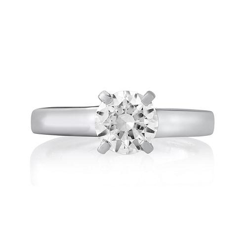 1¼ CT. Round Diamond Solitaire Platinum Engagement Ring