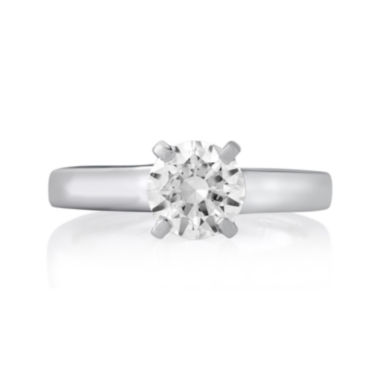 jcpenney.com | 1½ CT. Round Diamond Solitaire Platinum Engagement Ring