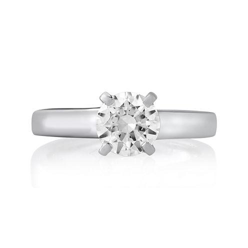 1½ CT. Round Diamond Solitaire Platinum Engagement Ring