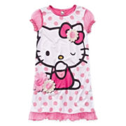 Hello Kitty® Polka Dot Dorm Sleep Shirt - Girls 4-10