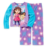 Nickelodeon Dora Sleep Set - Girls 2t-4t