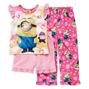 Despicable Me 3-pc. Pajama Set - Girls 2t-4t