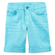 Arizona Colored Bermuda Shorts - Girls 7-16, Slim and Plus