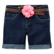 Arizona Cuffed Denim Shorts - Girls 7-16, Slim and Plus