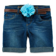 Arizona Cuffed Denim Shorts - Girls 7-16 Plus