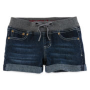 Arizona Knit-Waist Denim Shorts - Girls 7-16 and Plus