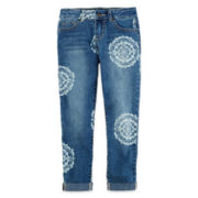 Arizona Print Denim Ankle Crops - Girls 7-16 and Plus