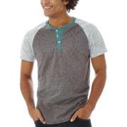 Azari Short-Sleeve Henley Shirt
