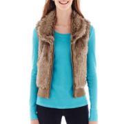 Arizona Sleeveless Full-Zip Faux-Fur Vest