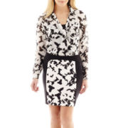 nicole by Nicole Miller® Crossover Print Blouse or Scuba Print Pencil Skirt