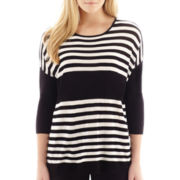 MNG by Mango® Elbow-Sleeve Striped Tunic Sweater
