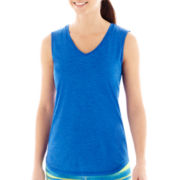 Xersion™ Sleeveless Melange V-Neck Tee