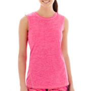 Xersion™ Sleeveless Seamed Melange Crewneck Tee