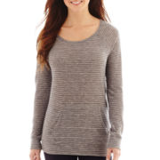 a.n.a® Long-Sleeve Kangaroo Pocket Pullover Tee