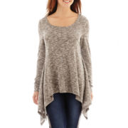 a.n.a® Long-Sleeve High-Low Flyaway Tunic