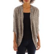 a.n.a® Dolman-Sleeve Textured Cocoon Cardigan