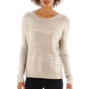 a.n.a® Long-Sleeve Metallic Sweater