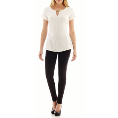 jcpenney.com | Alyx® Peplum Top or Slim-Leg Pull-On Pants