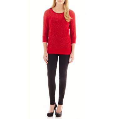 jcpenney.com | Alyx® Sequin Sweater or Slim-Leg Pull-On Pants