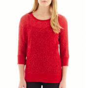 Alyx® 3/4-Sleeve Sequin Sweater