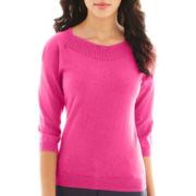 Worthington® 3/4-Sleeve Boatneck Sweater - Petite