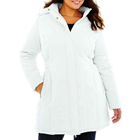 KC Collections Quilted Puffer Bus Stop Coat - Plus