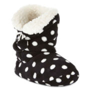 Mixit™ Polka Dot Bootie Slippers