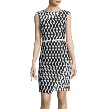 jcpenney.com | Worthington® Sleeveless Wrap-Skirt Sheath Dress