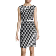 Worthington® Sleeveless Wrap-Skirt Sheath Dress