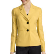 Le Suit® Long-Sleeve 2-Button Crepe Jacket and Pant Suit