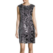 Studio 1® Sleeveless Sequin Sheath Dress