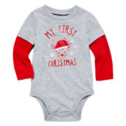 Okie Dokie® Long-Sleeve Holiday Bodysuit - Baby Boy newborn-24m