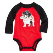 Okie Dokie® Graphic Raglan Bodysuit - Baby Boys newborn-24m