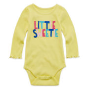 Okie Dokie® Long-Sleeve Bodysuit - Baby Girls newborn-24m