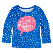 Okie Dokie® Long-Sleeve Graphic Tee - Baby Girls newborn-24m
