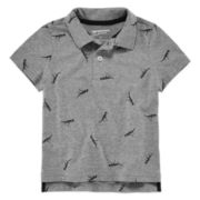 Arizona Dinosaur Print Polo - Toddler Boys 2t-5t