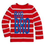 Okie Dokie® Striped Graphic Tee - Preschool Boys 4-7
