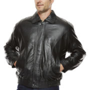 Pig Leather Bomber Jacket