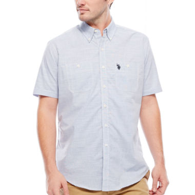jcpenney.com | U.S. Polo Assn.® Short-Sleeve Button-Front Shirt